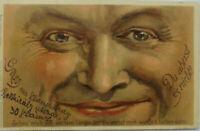 """""""Gruss aus, Männer, Gesicht"""" 1909, Du ahnst es nicht! ♥ (4527)"""