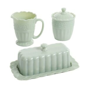 Pioneer Woman Timeless Beauty Jade Choice of Creamer, Sugar Bowl or Butter dish