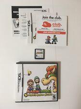 Mario & Luigi Bowser's Inside Story (Nintendo DS) Game w/Case & Manual
