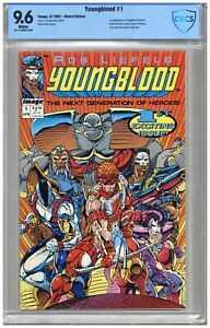 Youngblood  #1 CBCS   9.6   NM+   White pgs  4/92  1st App. Youngblood (Badrock