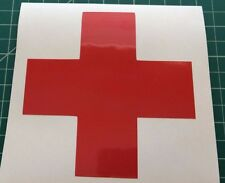 "Red Cross medical vinyl window sticker / decal 5"" x 5"" - medical Dr medic"