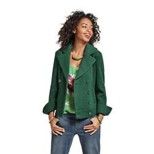 CAbi S Green Knit Peacoat Button Jacket Style 3159