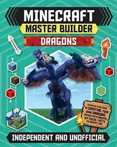 Minecraft Master Builder: Dragons New Book Kids Gift - Free Fast Dispatch √