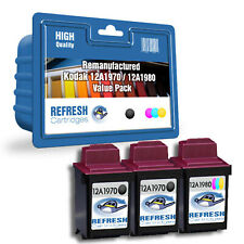 REFRESH CARTRIDGES VALUE PACK 12A1970 / 12A1980 INK COMPATIBLE WITH KODAK PRINTE
