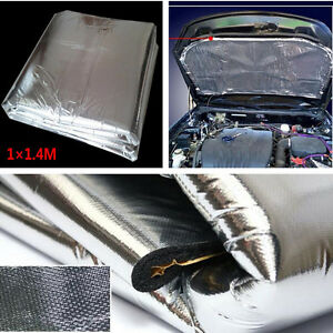 Heat Shield Mat Auto Exhaust Muffler Insulation Hood Cotton Noise Firewall Pad