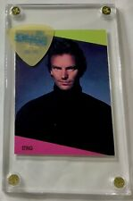 Nice Police 1990 Sting SuperStars card #95 / Blue on clear guitar pick display!