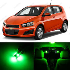 13 x Green LED Interior Light Package For 2012-2017 Chevrolet Chevy Sonic + TOOL