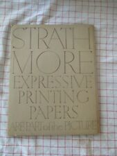 Strathmore Expressive Printing Papers Vintage Paper Samples 1954