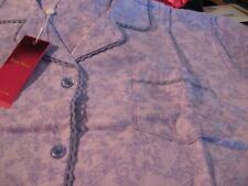 WOMENS FLANNEL PAJAMAS SIZE 2XL XXLARGE 1X 100%COTTON PURPLE PAISLEY NEW W TAGS