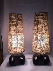 Mid Century Modern, 50's Modern Artist Signed Lamps