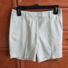 Women's Lady Hagen golf shorts mint green white size 0 brand new NWT $50