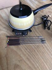 Oster Vintage Electric Fondue Pot 1980's With Vintage Fondue Forks