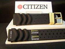 Citizen watch band Hyper Aqualand Band 20mm Black Resin w/gold tone hardware