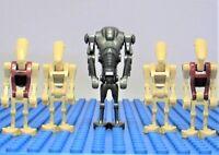 NEW Lego Star Wars Super Battle Droid + Battle + Security Droids Minifigs Lot G