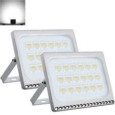 2X 100W Thin LED Flood Light Cool White Landscape Spotlight Spot Lamp NEW IP67