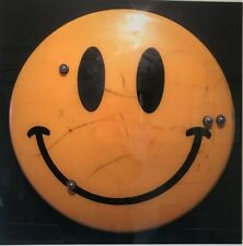 Brand New Acid House Iconic Smiley Face Emblem Photography Artwork on HD Metal