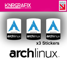 KNR7720 3x Arch Linux Sticker Decal Badge PC Repair