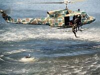 MILITARY AIR CRAFT CHOPPER UH1N IROQUOIS HELICOPTER RESCUE POSTER PRINT BB909A