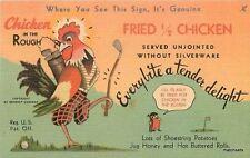 1940s Oklahoma City Oklahoma Chicken Rough  Restaurant Teich 2388