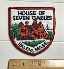 House of Seven Gables Salem Mass. Massachusetts Souvenir Embroidered Patch Badge