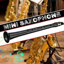 Negro Pequeno Sx Mini Saxofono Portatil C Llave Saxofon Abdominales Ligero Saxof