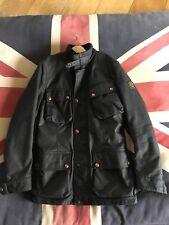Belstaff Trialmaster Wax Jacket Medium Motorcycle Mens Black