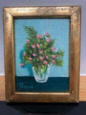 Roses Artwork Floral Oil Painting Original Art Flower Mini Bouquet Wall Art 8 by 8 by ArtOxanaShop