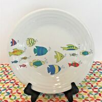Fiestaware School of Fish Lunch Plate Fiesta Exclusive 9 in Luncheon NEW