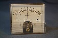 """PASCO 3-3/8"""" x 3"""" Center Scale Panel Meter +-100 ua Tested Works Great"""