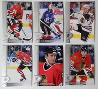 1996-97 Upper Deck UD Series 2 Blackhawks Team Set of 6 Hockey Cards No Daze
