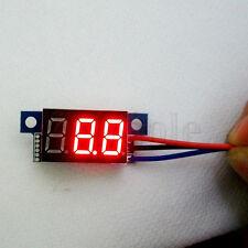 Mini LED 0-10V Rot Digital Voltmeter Panelmeter Spannungsanzeige 3 kable ER