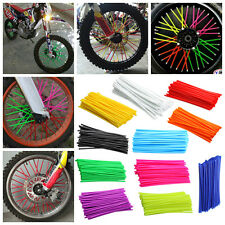 72x Wheel Spoke Wraps Skins Coat Trim Cover Pipe Motorcycle Motocross Dirt Bike