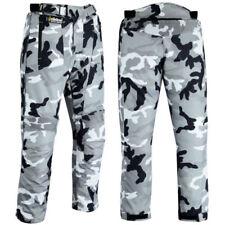 Pantaloni grigi per motociclista Cordura