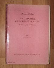 Schulbuch Deutscher Sprachunterricht Heft 1 Rarität 1947 Kromer-Prediger