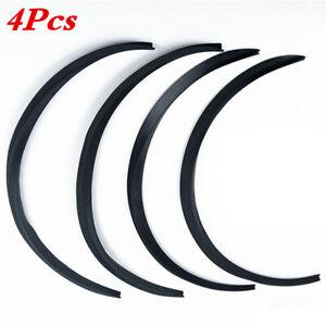 4 Soft Rubber Car Wheel Eyebrow Arch Protector Trim Lips Fender Flares Universal