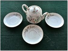 Antique RUSSIAN factory of KUZNETSOV PORCELAIN TEA teapot plates RARE