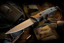 Spartan Blades Knife Harsey TT FDE Blade Camo Handle MultiCam Sheath