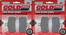 GOLD-FREN SINTERED FRONT BRAKE PADS (2x Sets) For: YAMAHA R1 (1998-2006) YZF-R1