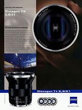 Prospekt Datenblatt Zeiss Kamera Objektiv Distagon T 2,8/21 2010 brochure lens