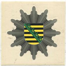Polizei Sachsen Türaufkleber 115 mm  (z564)