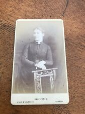 1870s or 80s photograph of a middle ages lady ! nice chair ! harrow