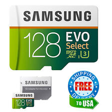 Samsung Micro SD Card 128GB EVO Select MicroSD Class 10 HTC Galaxy Note 7 S7 S8