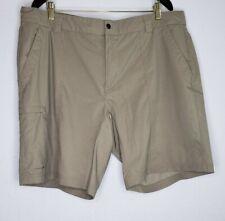 Koppen Mens Size 40 Shorts Beige Chevron Aquapel Flat Front Multiple Pockets