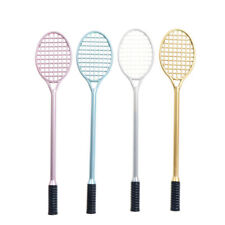 2Pcs Badminton racket shaped Ballpoint Pen Gel Pen Writing Tool Office Gift