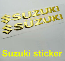 Suzuki S Sticker Logo Motorcycle Yellow Gold Tank Decal Emblem 3D Motorrad Car