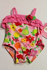 CIRCO Infant Baby Girl Size 12 Months Pink Floral One-Piece Swimsuit NEW