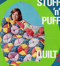 STUFF N PUFF Quilt Magazine Pattern Pinwheel Flower Applique Shells Tile Triangl
