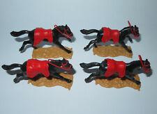 Timpo Toys  4  Pferde mit Zügel Satteldecke