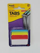 Post It Angled Filing Tabs 24 Pack Durable Writable 2 X 1 12 Office Supplies
