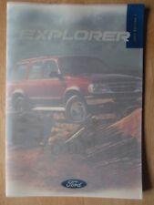 FORD EXPLORER orig 1997 UK Mkt prestige sales brochure - 4.0 V6 4x4